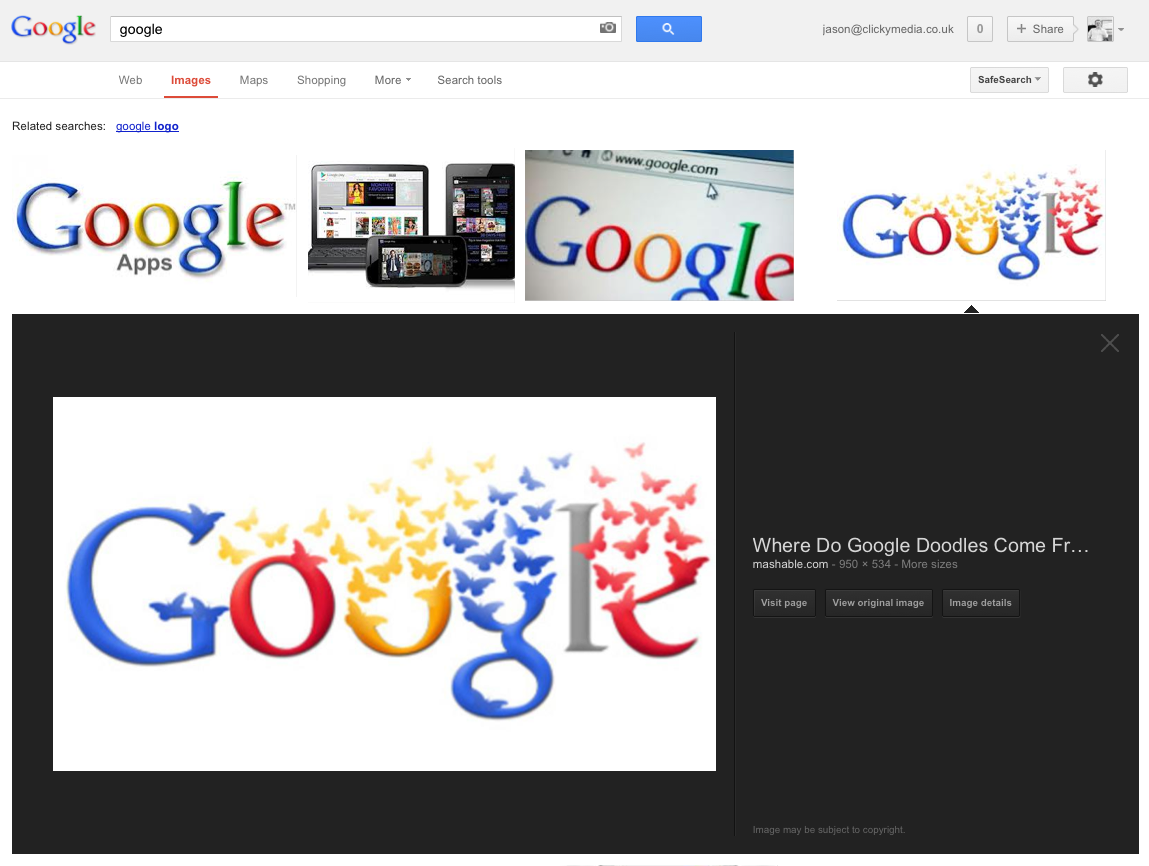 New Google Image Results